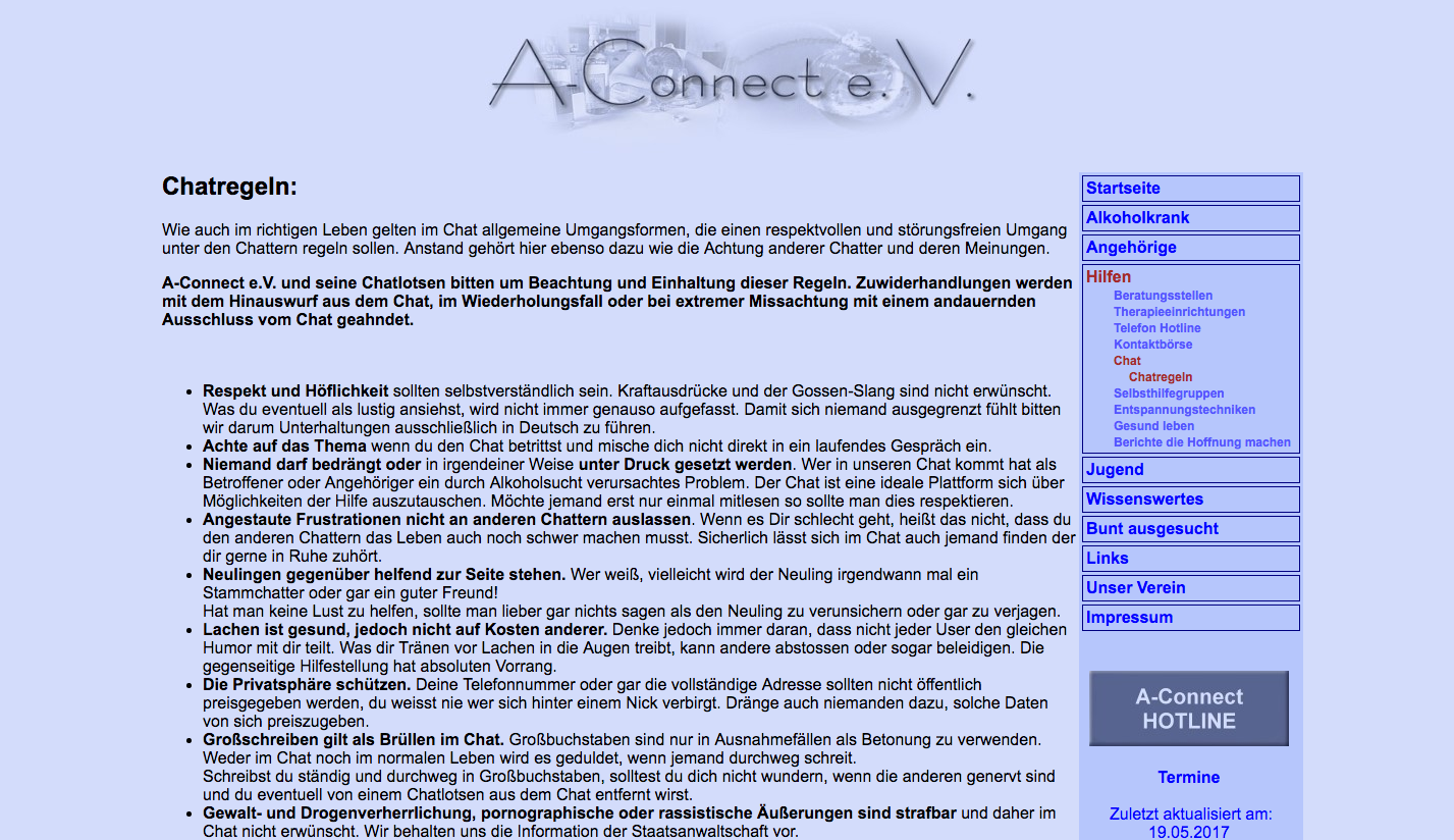 A-Connect e.V. Chat